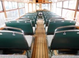Vintage single deck wedding bus in Honiton